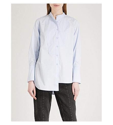 MO&CO. Asymmetric stretch-cotton shirt (Skyway