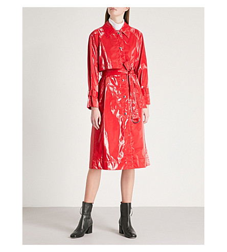 MO&CO. PVC trench coat (High+risk+red