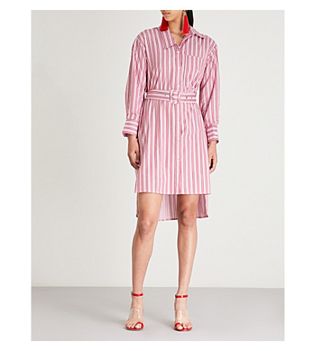shirt amp and white MO Striped cotton dress CO stripe Red waFgvq1F