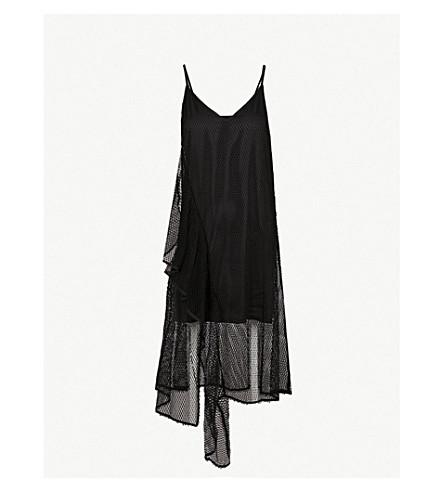 MO&CO.网棉混纺溜裙 (黑色
