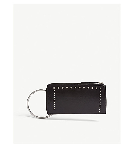 MO&CO. Studded leather wallet (Black