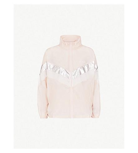 MO&CO. Off Duty-print shell jacket (Pink