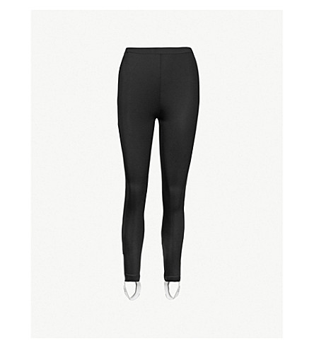 MO&CO.马镫下摆弹力平纹针织绑腿 (黑色