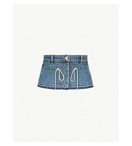 MO&CO. High-waist denim corset (Blue+denim