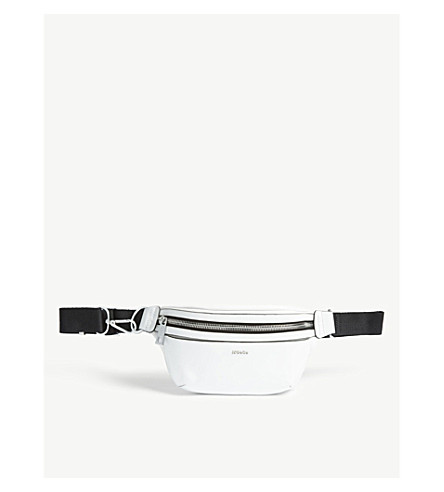 MO&CO. Leather bumbag (Snow+white