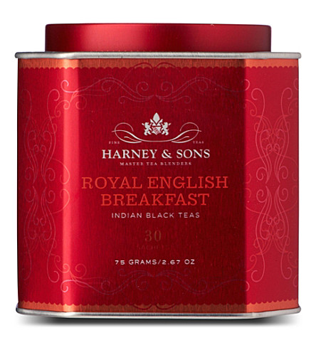 HARNEY AND SONS Royal English breakfast silk tea sachets 75g