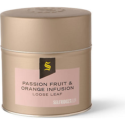 SELFRIDGES SELECTION Passionfruit and orange loose leaf tea 122g