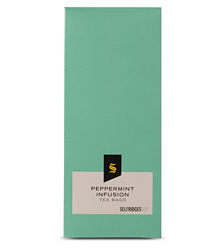 SELFRIDGES SELECTION Peppermint infusion tea bags 30g