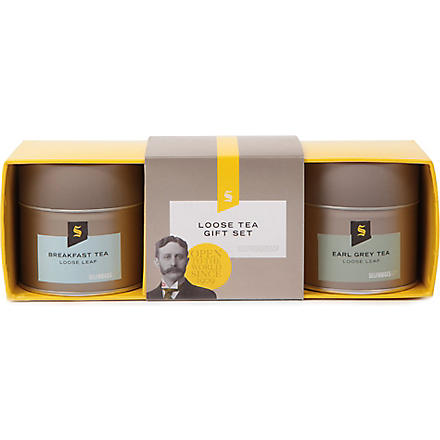 SELFRIDGES SELECTION Loose leaf tea set 160g