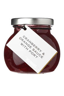SELFRIDGES SELECTION Cranberry and orange sauce with port 220g