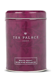 TEA PALACE White Peony with Pink Rosebuds loose leaf tea 50g