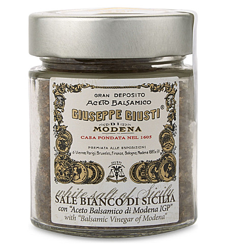 GUISEPPE GUISTI Balsamic Vinegar of Modena-infused Sicilian sea salt 153g