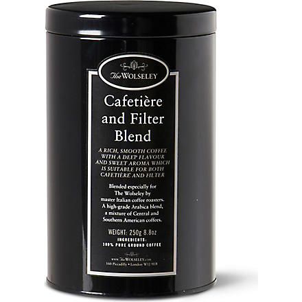 THE WOLSELEY Cafetiére coffee tin 250g