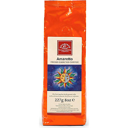 EDINBURGH TEA & COFFEE COMPANY Amaretto flavoured coffee 227g