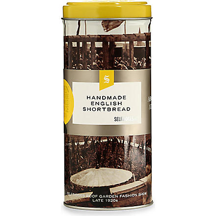 SELFRIDGES SELECTION Shortbread cylinder tin 240g