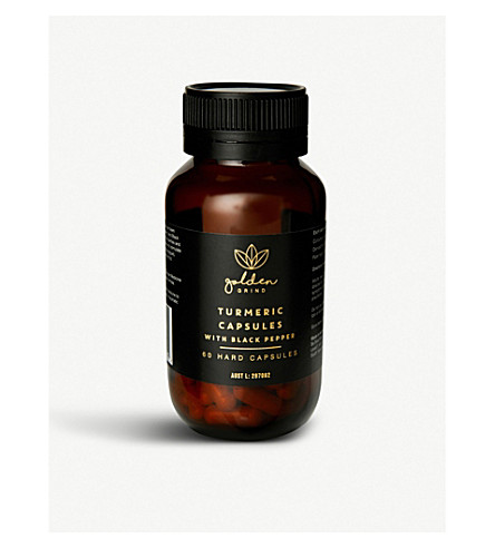 GOLDEN GRIND Turmeric and black pepper capsules