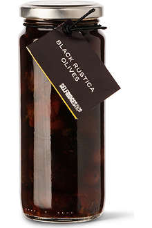 SELFRIDGES SELECTION Black rustica olives 345g