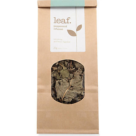 LEAF Peppermint infusion loose leaf tea 20g