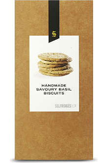 SELFRIDGES SELECTION Basil savoury biscuits 150g