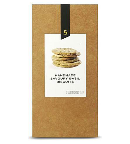 SELFRIDGES SELECTION Basil savoury biscuits 150g
