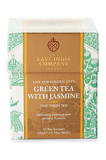 THE EAST INDIA COMPANY Green Tea with Jasmine tea sachets 20g