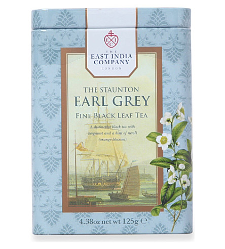 THE EAST INDIA COMPANY The Staunton Earl Grey tea bags 125g