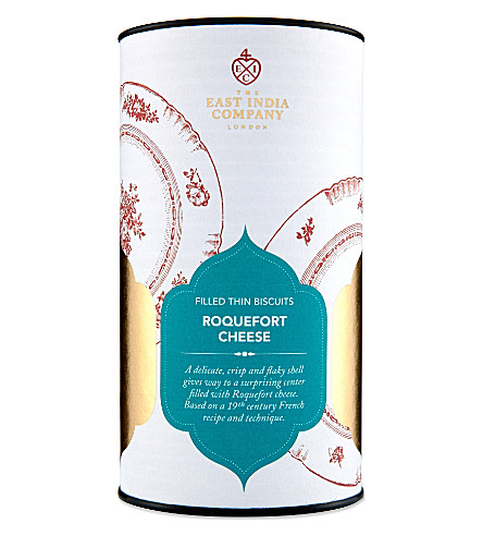 THE EAST INDIA COMPANY Roquefort cheese biscuits 125g