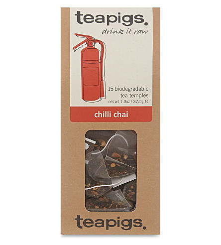 15 Chilli chai tea bags