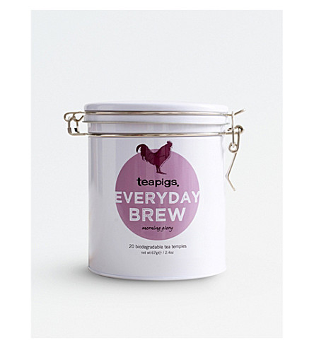 TEAPIGS Tin of 20 Everyday Brew tea temples