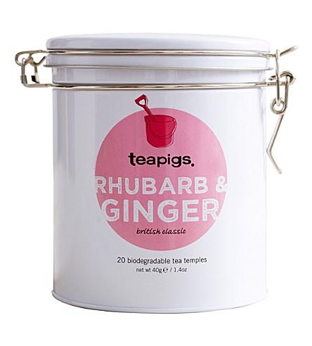 TEAPIGS Rhubarb & Ginger 20 biodegradable tea temples