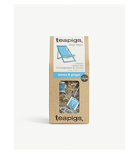 TEAPIGS Lemon and ginger tea temples 37.5g