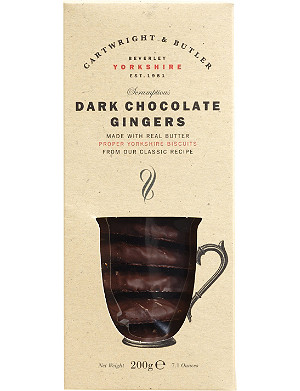 CARTWRIGHT & BUTLER Dark chocolate ginger biscuits 200g