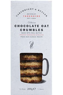 CARTWRIGHT & BUTLER Chocolate oat crumble biscuits 200g