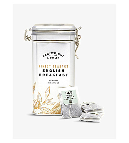 CARTWRIGHT & BUTLER English Breakfast tea caddy 15 teabags 45g