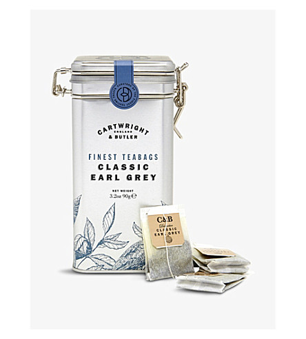 CARTWRIGHT & BUTLER Earl Grey tea caddy 15 teabags 45g