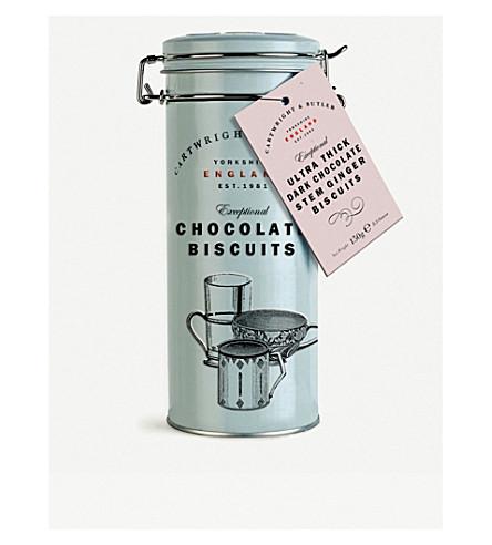 CARTWRIGHT & BUTLER Dark chocolate stem ginger biscuits