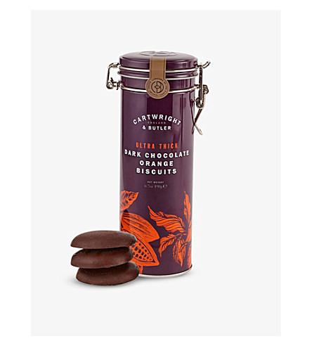 CARTWRIGHT & BUTLER Dark chocolate orange biscuits