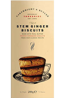 CARTWRIGHT & BUTLER Stem ginger biscuits 200g