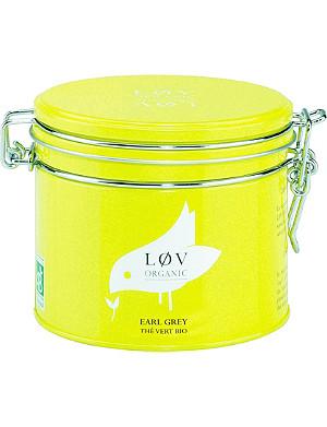 LOV ORGANIC Løv Earl Grey loose tea caddy 100g