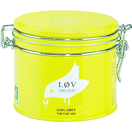 LOV ORGANIC Løv Earl Grey loose tea caddy 100g