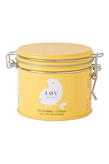 LOV ORGANIC Løv ginger & lemon loose tea caddy 100g