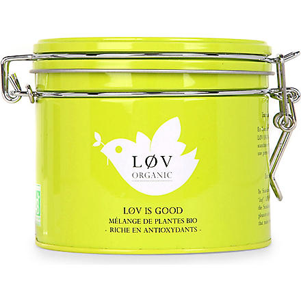 LOV ORGANIC Løv is Good loose tea caddy 100g