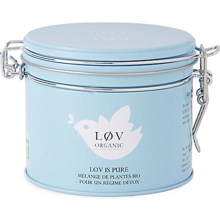LOV ORGANIC Løv is Pure loose tea caddy 100g