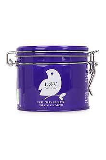 LOV ORGANIC Løv liquorice Earl Grey loose tea caddy 100g
