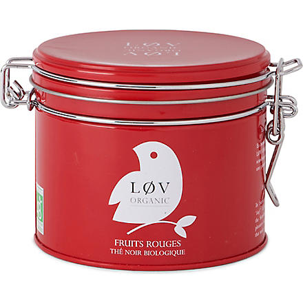 LOV ORGANIC Løv red fruits loose tea caddy 100g
