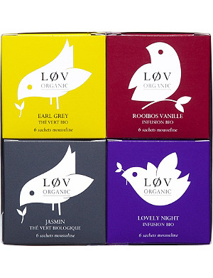 LOV ORGANIC Time for Løv tea bags gift set 130g