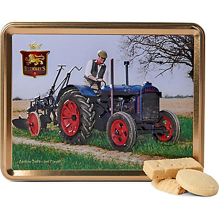 Vintage tractor shortbread gift tin 425g