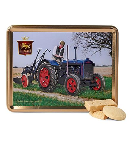 Vintage tractor shortbread gift tin 425g