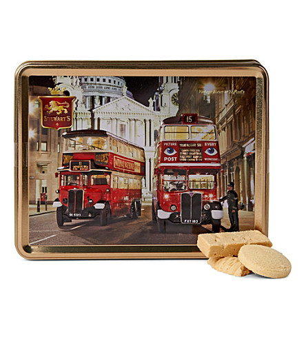 Vintage bus shortbread gift tin 425g