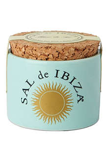 IBIZA Fleur de Sel natural sea salt ceramic minipot 28g